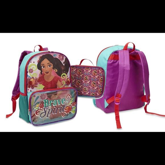 d2c29dd9e631 Disney Girls' Elena Of Avalor Backpack & Lunchbag NWT